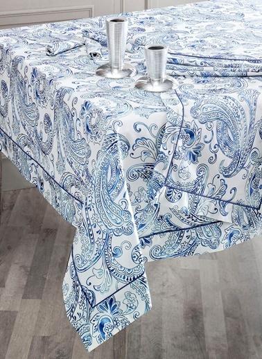 Sarev Masa Örtüsü Mavi